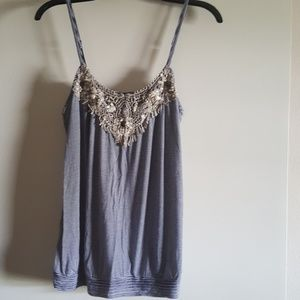 Express Spaghetti Strap Cami with Embellishments